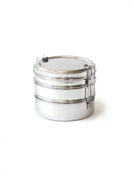 Lunch box inox 3 en 1 - Ronde
