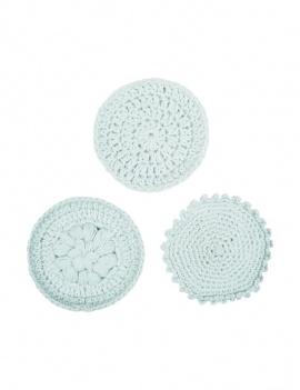 Disques démaquillants lavables coton bio - Lot de 3