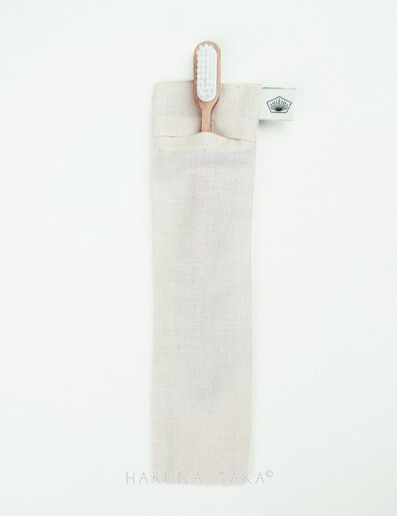 Étui brosse à dents en coton bio