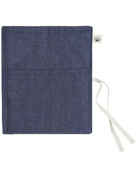 Range couverts en tissu bleu jean