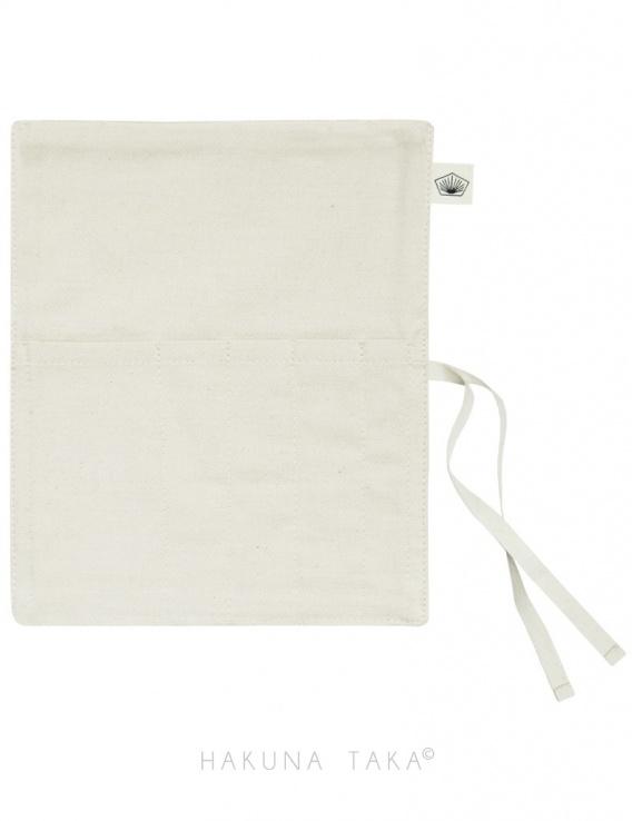 Range couverts en tissu écru