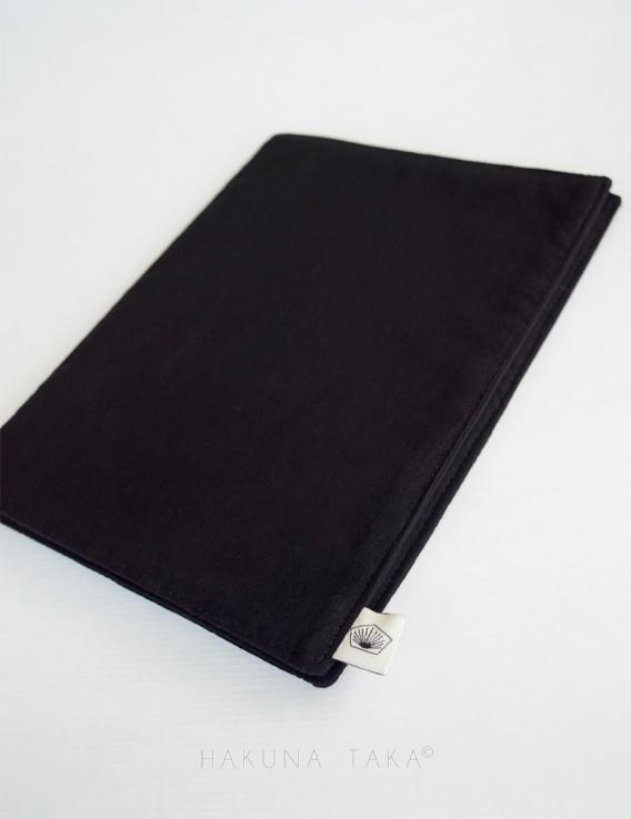 Protège cahier avec rabat en coton bio