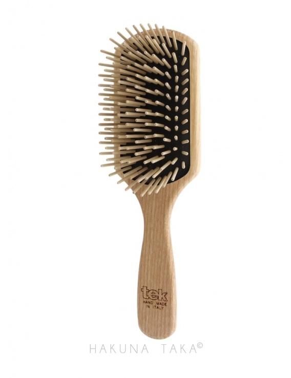 Brosse à cheveux rectangle en bois
