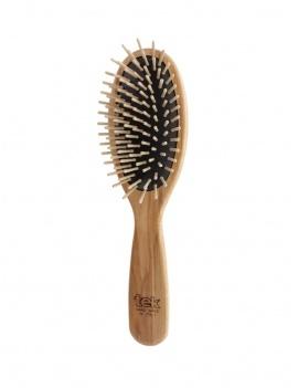 Brosse à cheveux ovale en bois
