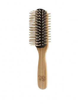 Brosse à cheveux Tek démontable en bois