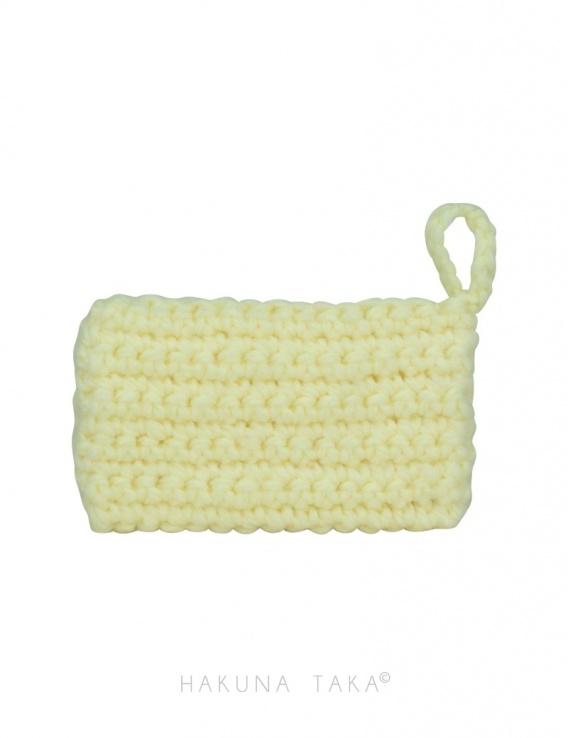 Eponge en crochet - jaune pâle