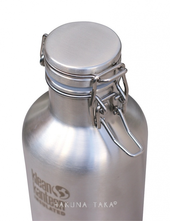Growler isotherme 1L inox brossé