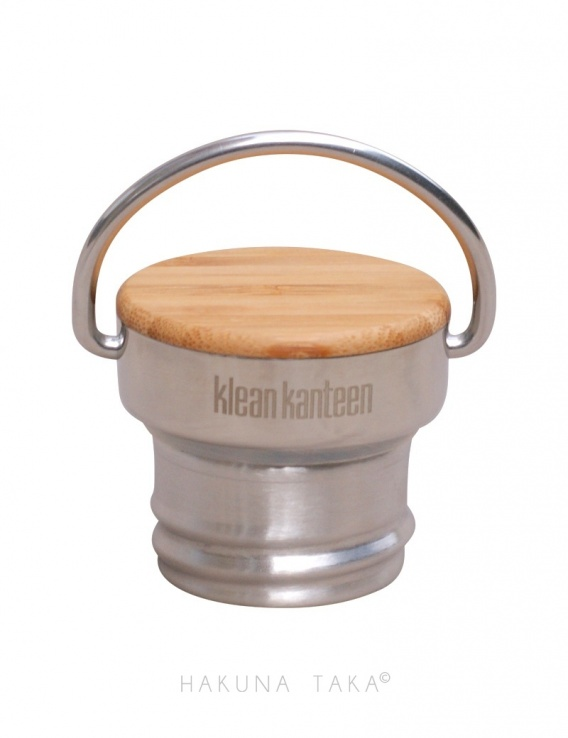 Gourde 500ml inox brillant & bambou