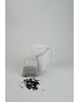 Sachet de thé lavable coton bio - Petit format