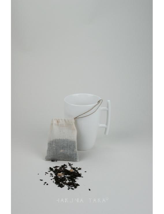 Sachet de thé lavable coton bio - Format tasse