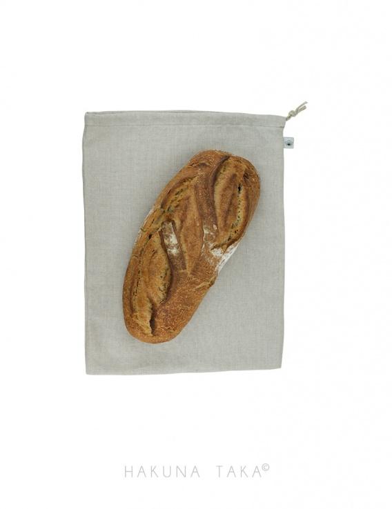 Sac à pain en lin bio - format pain rond