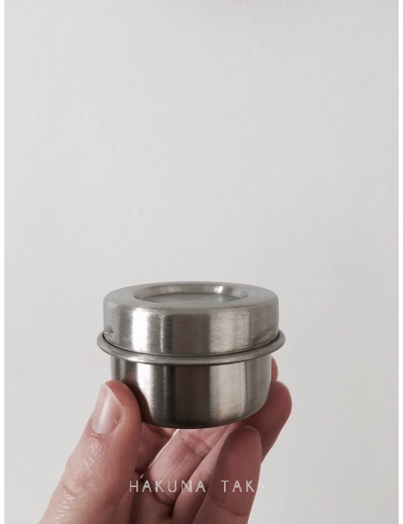 Boite inox ronde - Diamètre 5 cm