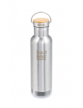 Gourde inox brossé et bambou isotherme 600 ml