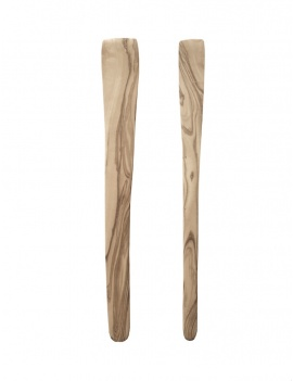 Spatule en bois plate - Lot de 2