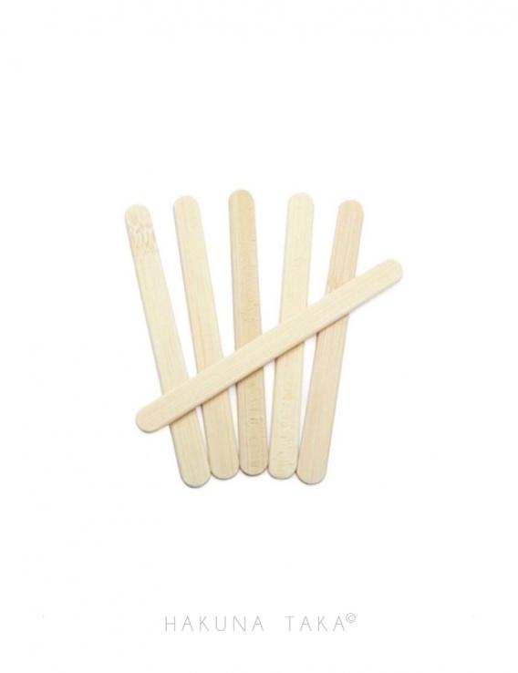 Bâtonnets réutilisable en bambou x24