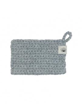 Eponge en crochet - gris