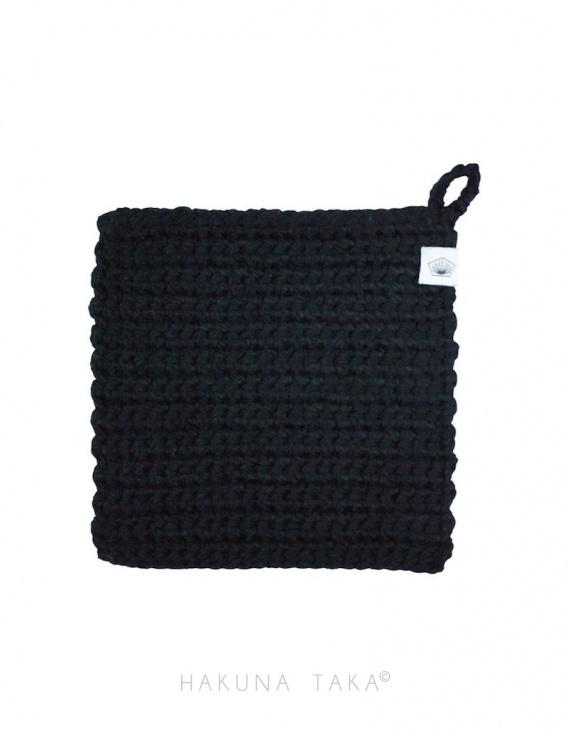 Lavette en crochet - noir