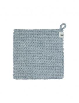 Lavette en crochet - gris clair