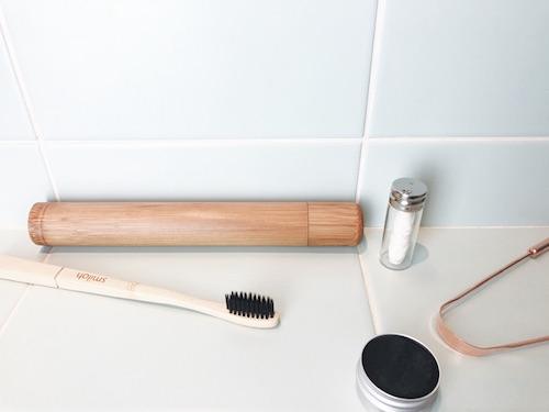 Étui brosse à dents en bambou
